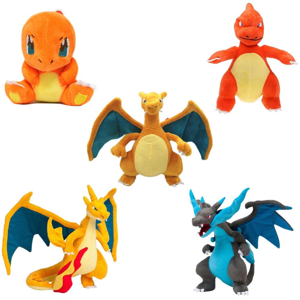 Cartoon Anime Charmander Evolution Charmeleon Charizard Mega X/Y Pkm Stuffed Plush Toys Cute Plush Toys Gifts For Children