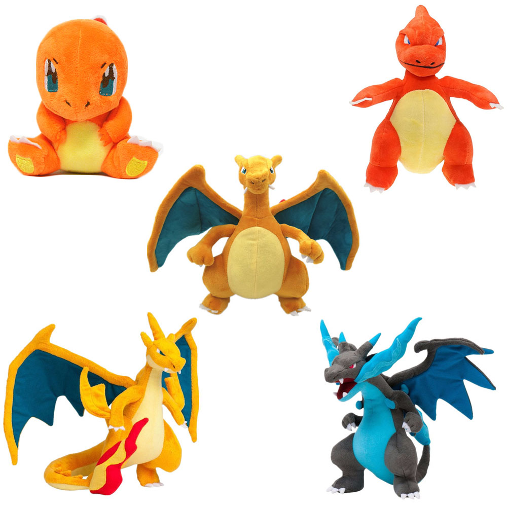 Cartoon Anime Charmander Evolution Charmeleon Charizard Mega X/Y Pokemones Stuffed Plush Toys Cute Plush Toys Gifts For Children