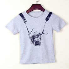 T Shirt T Boy Kids Camera Short Sleeve Tops O Neck T Shirt Clothes Free Shipping Kids Summer Clothing