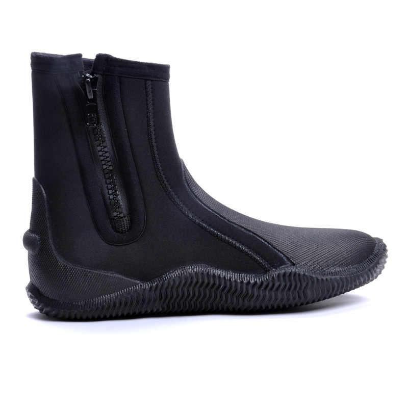 Hoge kwaliteit 5 MM SCR Neopreen schoenen duiken laarzen Anti slip Skid warm Houden schoenen Strand sok Vissen Winter swim vinnen