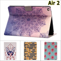 Fashion Butterfly flower guitar Card Slot PU Leather stand Case cover For Apple ipad air 2 for ipad air2