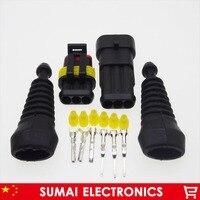 3 Pin AMP мужской и женский Авто HID разъемы + оболочка (2 шт.) Наборы для HEV/EV старт/стоп/Инверторные системы и т. д.