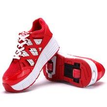 Новинка детская обувь для мальчиков, Сникеры двойной ролик для катания на роликовых коньках, Детские кроссовки heelies спортивная обувь; нескользящая подошва; защита от tenis infantil