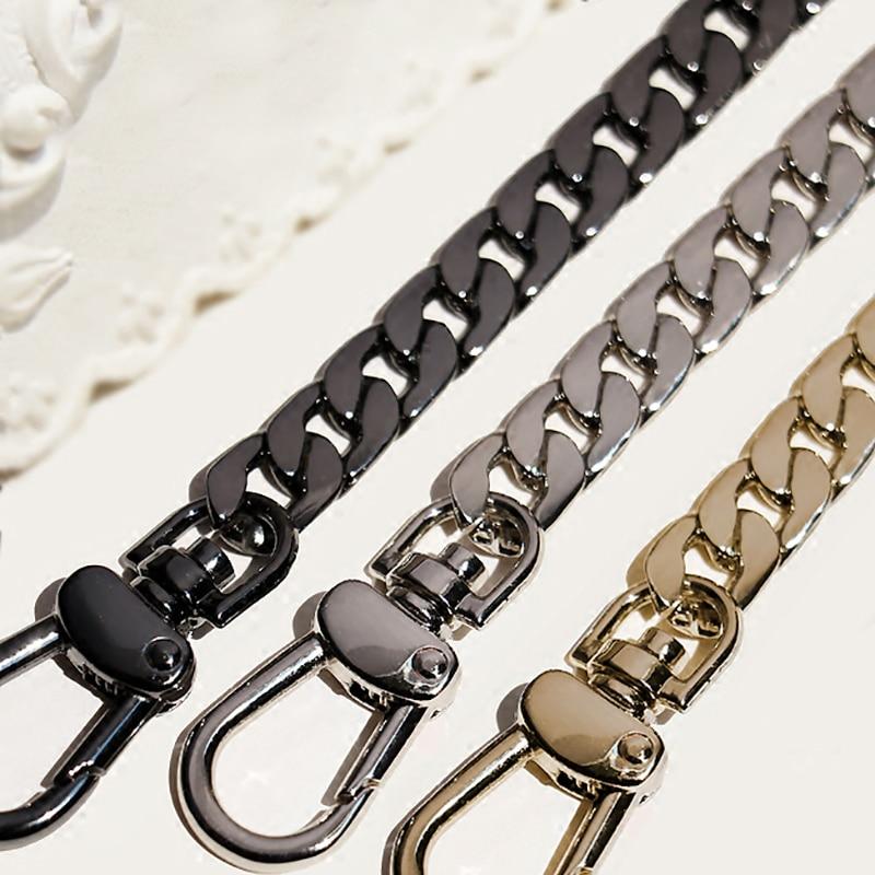 9mm Metal Replacement Chains Shoulder Bags Straps, Handles DIY 40cm-160cm Gold, Silver, Gun Black, Brushed Bronze Bag Handles