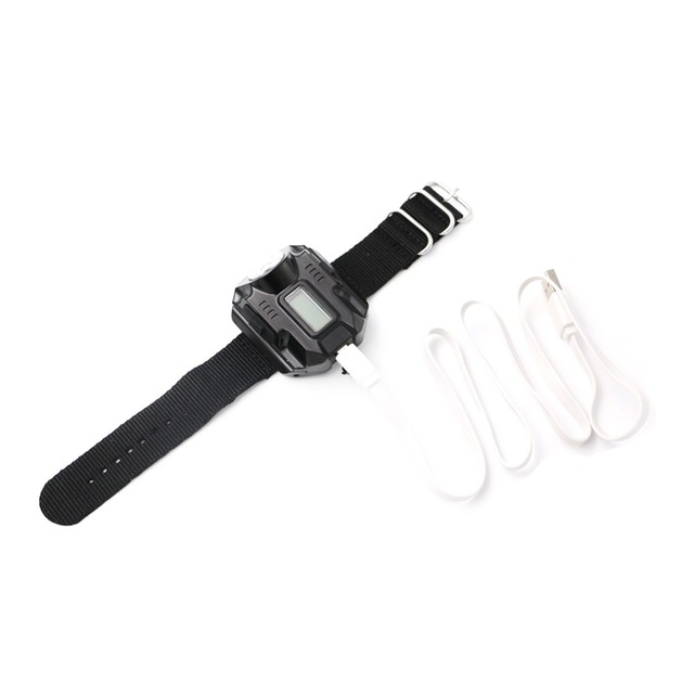 Watch Rechargeable Portable Flashlight XPE R2 LED Wrist Watch Flashlight Torch Light USB Charging Wrist Tactical Torch