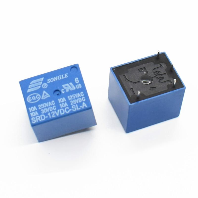 10 PCS Mini 5 Pins SRD-12VDC-SL-C Relais Relè Relay 10A 12V DC High Quality
