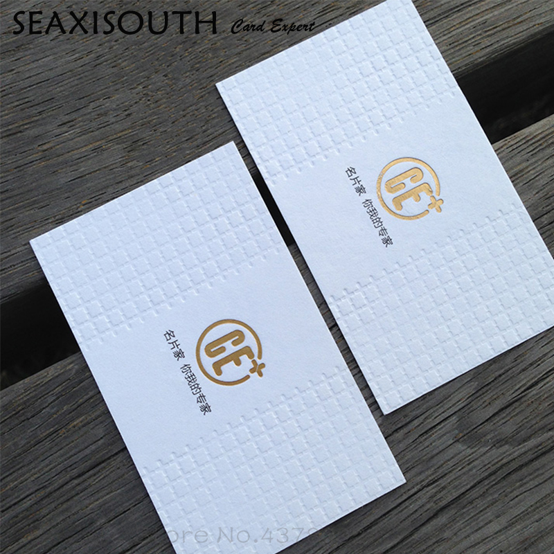 custom embossed card craft business card printing cotton super soft hair rice white 600g in business cards from office school supplies on aliexpresscom - Craft Business Cards