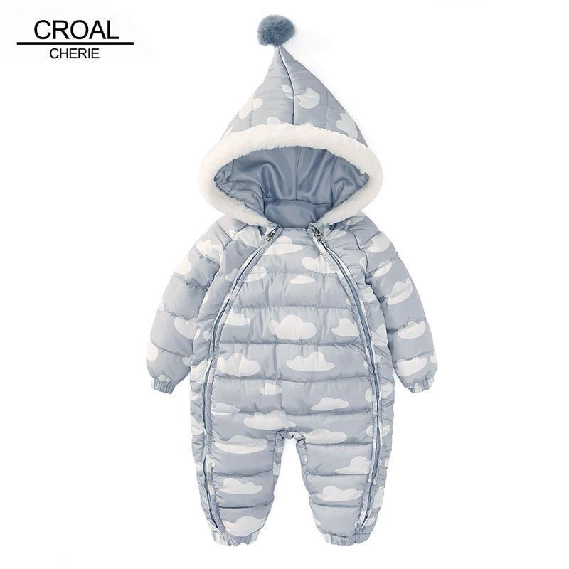 CROAL CHERIE 73-100cm Christmas Newborn Baby Clothes Winter Infant Romper Cloud Shape Warm Cotton  Baby Costume Halloween