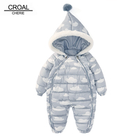 CROAL CHERIE 73 100cm Christmas Newborn Baby Clothes Winter Infant Romper Cloud Shape Warm Cotton Baby