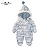 CROAL CHERIE 73 100cm Christmas Newborn Baby Clothes Winter Infant Romper Cloud Shape Warm Cotton Baby Costume Halloween