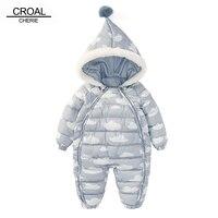 CROAL CHERIE 73 100cm Christmas Newborn Baby Clothes Winter Infant Romper Cloud Shape Warm Cotton Baby