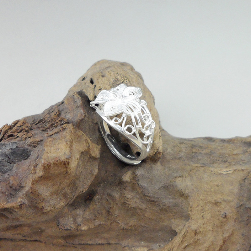 Hollow Out Carved Wedding Rings For Women Engagement Ring 999 Sterling Silver Genuine Luxury Vintage Unique Jewelry HandmadeHollow Out Carved Wedding Rings For Women Engagement Ring 999 Sterling Silver Genuine Luxury Vintage Unique Jewelry Handmade