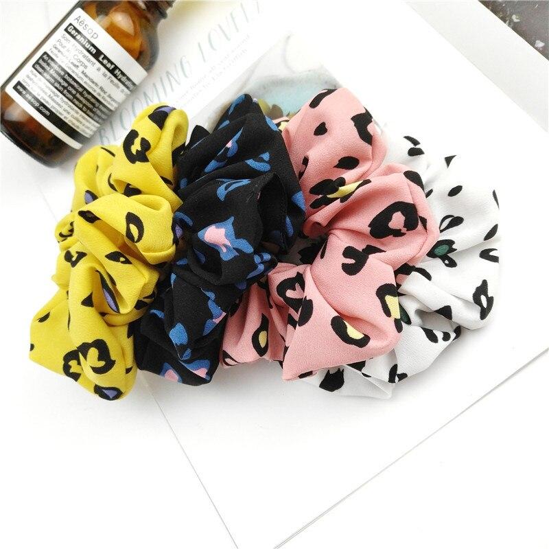 Free Shipping Fashion Women Pretty Hair Bands Cute Graffiti Printed Hair Scrunchies Girl's Hair Tie Accessories Ponytail Holder