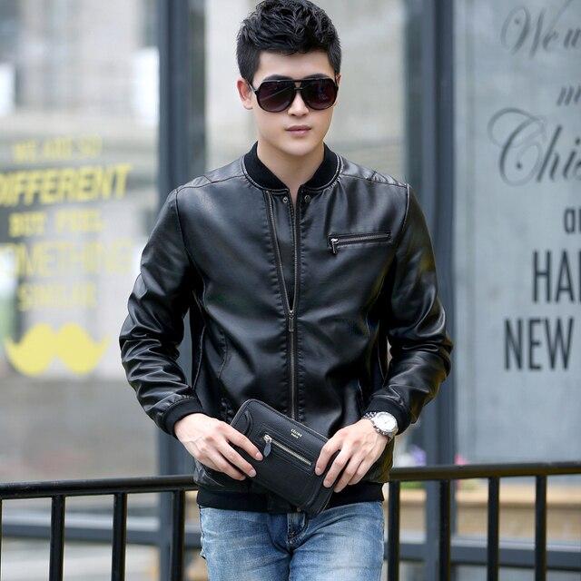 Aliexpress.com : Buy Men's leather clothing 2017 spring black ...