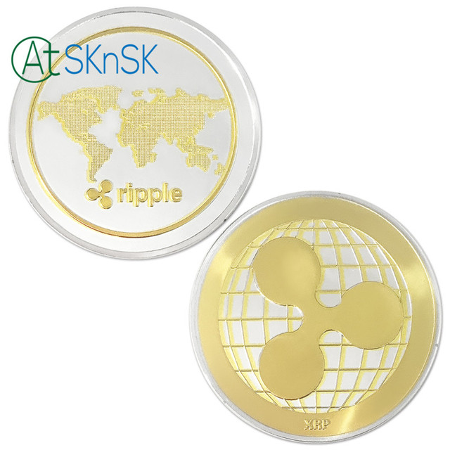 1/3/5/10pcs Commemorative Coins XRP Ripple Crypto Currency Gold and Silver Plated Coin Collectible BitCoin Art Collection Gifts