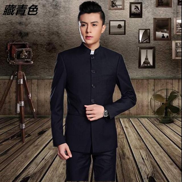 7ee191ec73 Blazer men formal dress latest coat pant designs stand collar chinese tunic suit  suit men wedding suits for men's black grey
