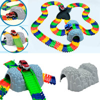 1pc Plastic Tunnel For Magic Glowing Tracks Rail Car Accessories DIY Assembly Cave Toys Set For