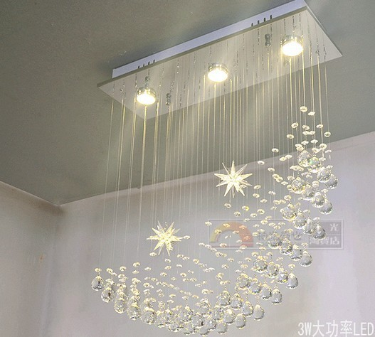 Crystal combination Led moon crystal lamp dining room pendant light brief modern chandelier pendant lamps table lamp SJ125