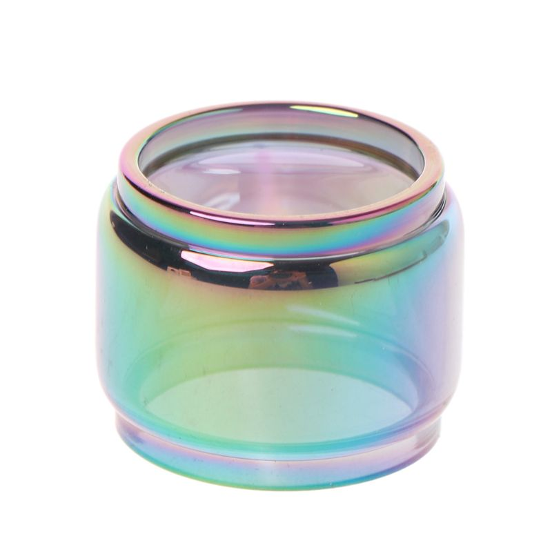 Transparent Rainbow Vape Glass Tube Glass Tank Elronic Cigarette Accessories For TFV12 Baby Prince Vaporizer Atomizer
