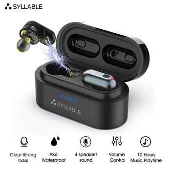 Original SYLLABLE S101 QCC3020 Chip bluetooth V5.0 bass earphones 10 hours headset noise reduction S101 Volume control