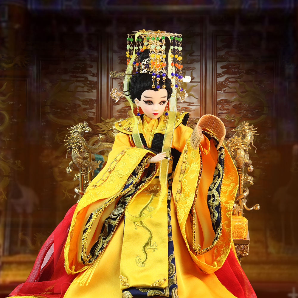 все цены на Fortune Days East Charm ancient costume doll 1/6 like BJD Blyth Wu Zetian enth with makeup 14 Joint body High Quality gift онлайн