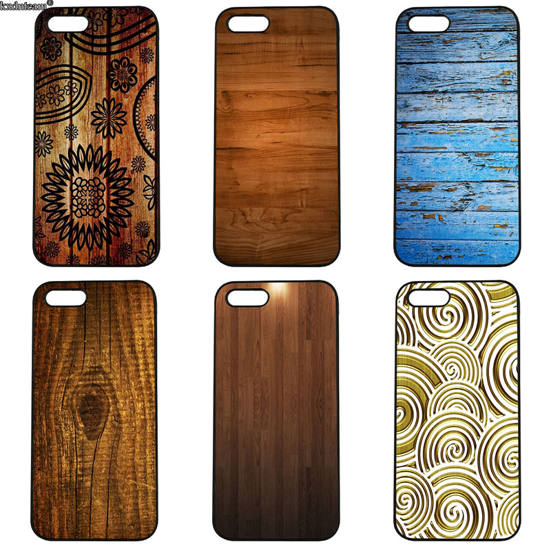 Mobile Phone Cases Painting Wood Pattern Hard PC Cover Fitted for iphone 8 7 6 6S Plus X 5S 5C 5 SE 4 4S iPod Touch 4 5 6 Shell