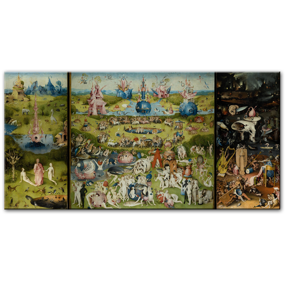 MUTU The Garden Of Earthly Delights Canvas Art Paintings Reproductions Bosch Hieronymus Canvas Art Prints For Living Room