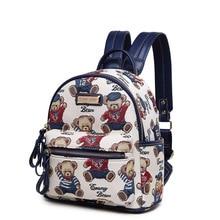 Женщины Мультфильм печати рюкзаки рюкзак для женщин рюкзак моды холст сумки ретро случайный школьные сумки дорожные сумки для девочек мешок
