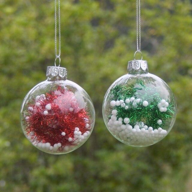 Durchmesser Weihnachtsbaum.Us 0 9 Durchmesser 6 Cm Glas Weihnachtskugel Transparente Glaskugel Weihnachten Dekoration Schöne Weihnachtsbaum Anhänger In Durchmesser 6 Cm