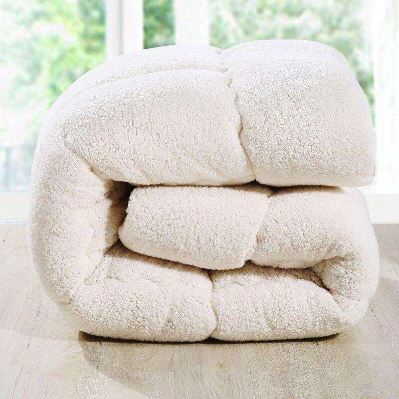 Warm lambskin thick Quilt Winter Comforter Throws Blanket queen Twin king Size ...