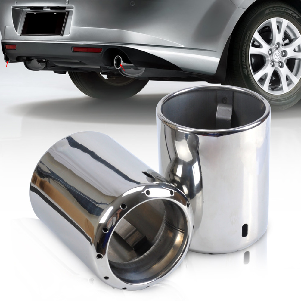 Beler 2pcs Stainless Steel Exhaust Tail Rear Muffler Tip Pipe For Mazda 6 Atenza 2009: 2011 Mazda 6 Exhaust At Woreks.co
