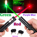 301 RED Violet Purple Blue Green Laser Pointer Pen Focus 532NM 650NM 405NM Zoom Burning Visible Adjustable Beam Range 8000m