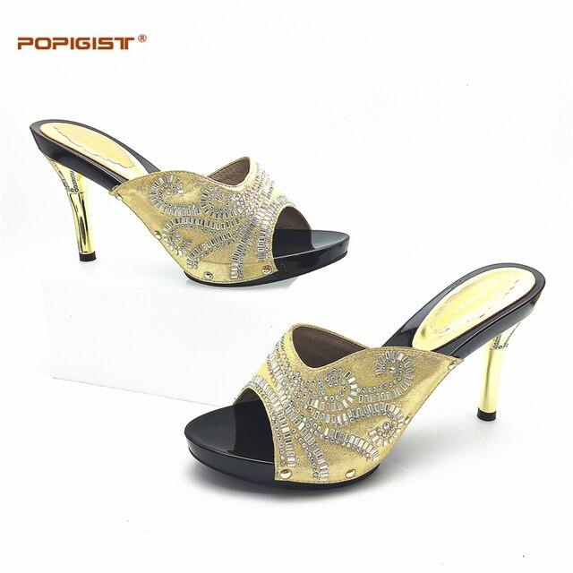 Thin Heels Women Shoes Gold In Italian Design Without Matching Bags Nigeria Wedding