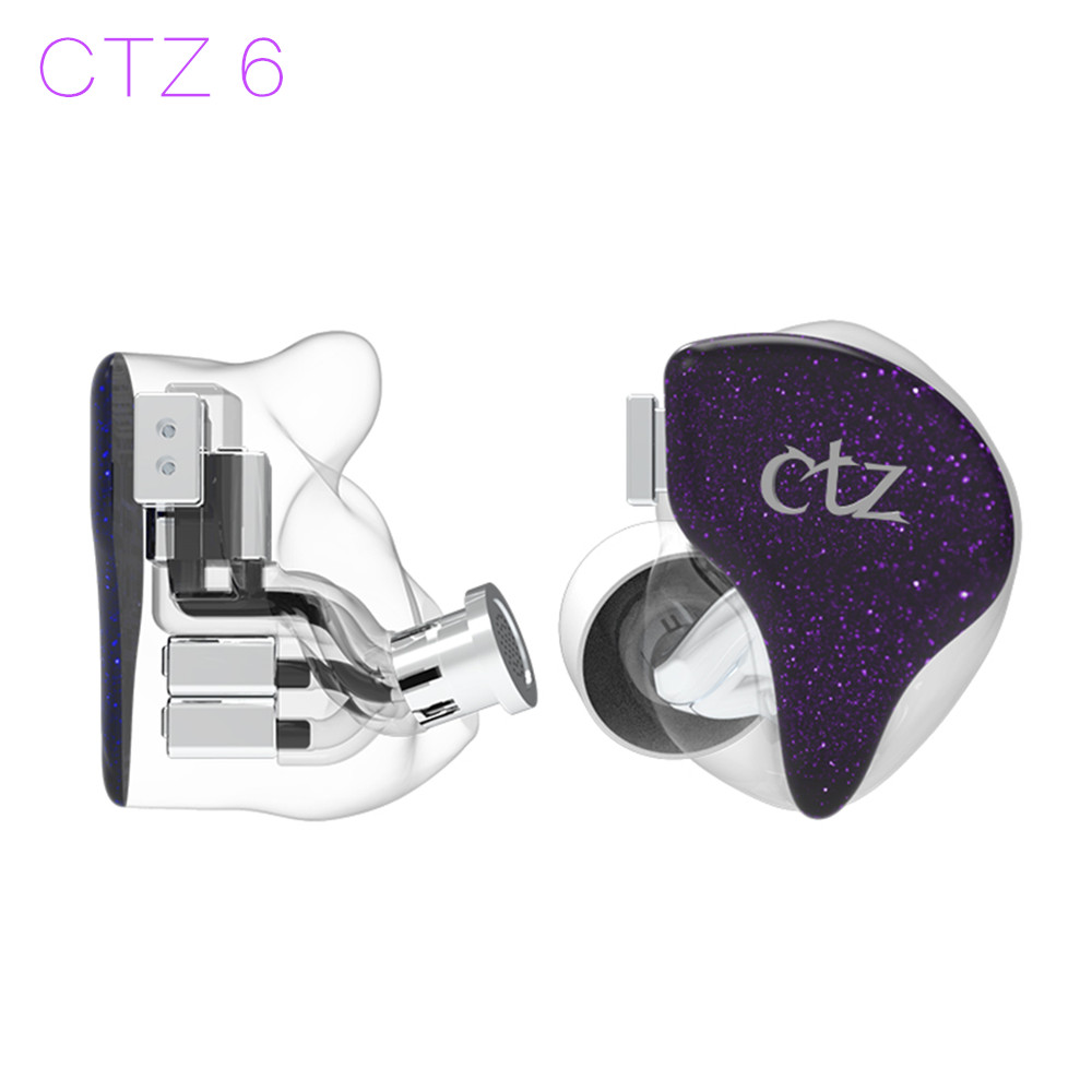 Newest CTZ 6 12BA One side 6BA in Ear Earphone Custom Made Balanced Armature Around Ear