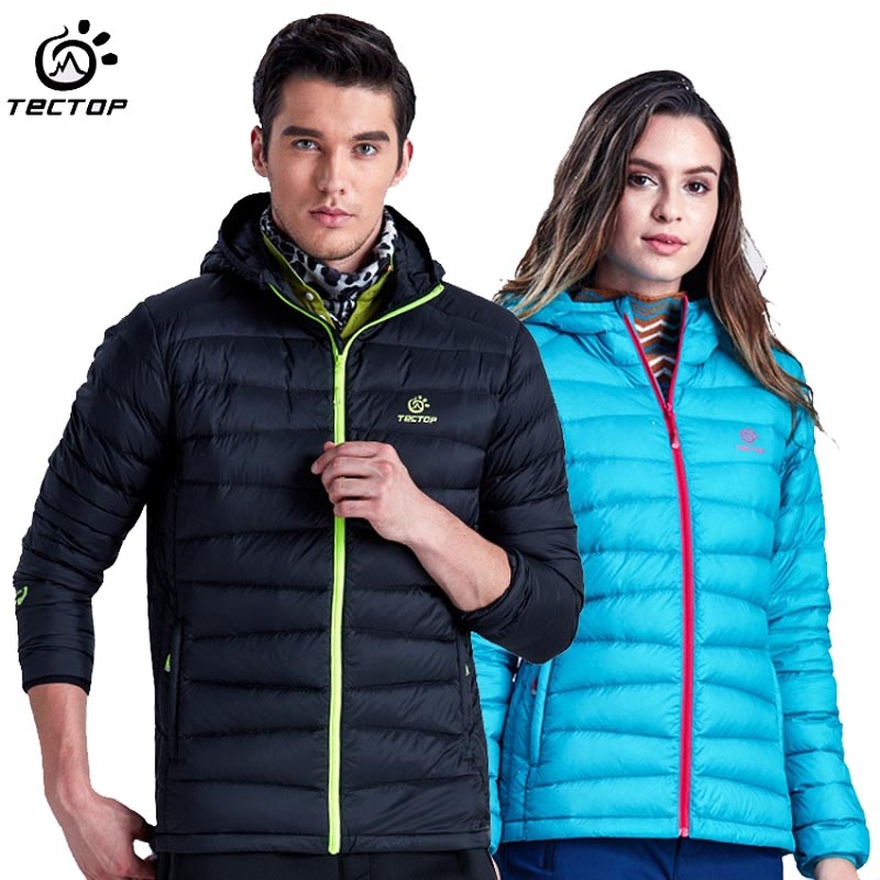 ФОТО 2017 Men Women's Winter White Duck Down Jacket Outdoor Sport Thermal Tectop Coat Hiking Camping Skiing Male Female Jackets VA049