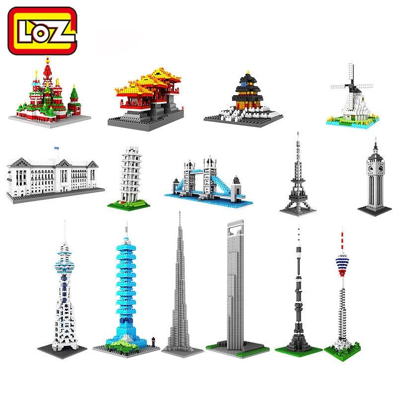 Loz Svjetski poznati građevni blokovi Model Moskva toranj Big Ben - Izgradnja igračke - Foto 1