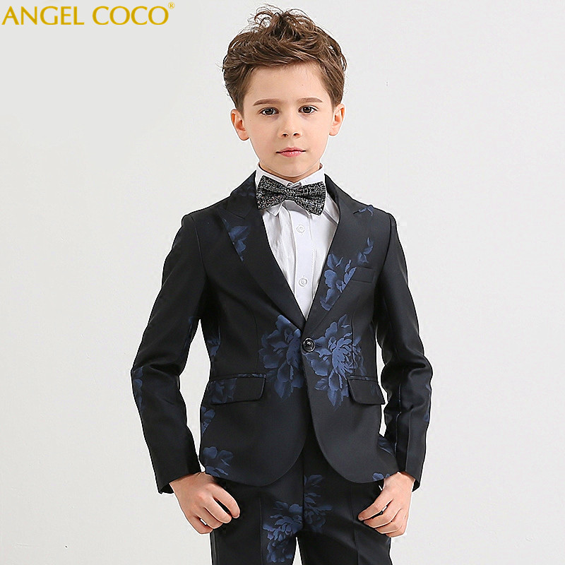 Nimble Blue Boys Suits For Weddings Kids Blazer Suit For Boy Costume Enfant Garcon Mariage Jogging Garcon Blazer Boys Tuxedo blazer georgede blazer