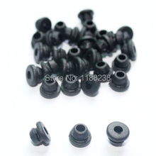200x Black Tattoo Needle Rubber Grommets Nipples For Tattoo Machine Gun Needles Supply