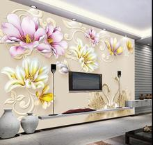 3D Nature Magnolia Denudata Photo Wall Paper Large Mural Custom Size Living Room Bedroom Wall Art Decor Murals Flower Sticker