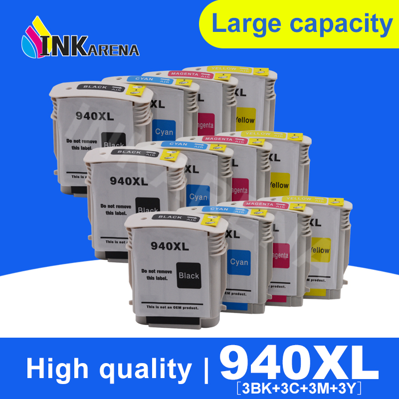 INKARENA 940 XL 940 Compatible Ink Cartridge for HP 940XL C4906A C4907A C4908A C4909A OfficeJet Pro 8000 8500a 8500 Printer|Ink Cartridges| |  - title=