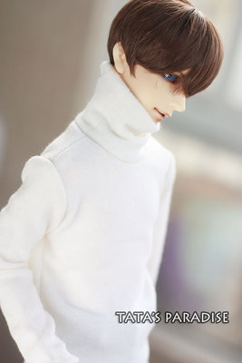 Fashion white  turtleneck  sweater  For BJD 1/3  ,SD17 ,UNCLE Doll Clothes Accessories uncle 1 3 1 4 1 6 doll accessories for bjd sd bjd eyelashes for doll 1 pair tx 03