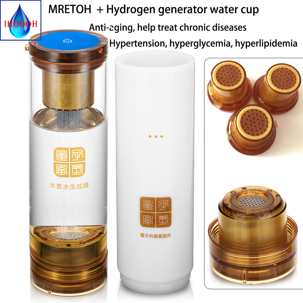 Molecular Resonance Effect Technology mretoh H2 Hydrogen rich water cup generator Helping treat chronic diseases Anti Aging in Water Filters from Home Appliances