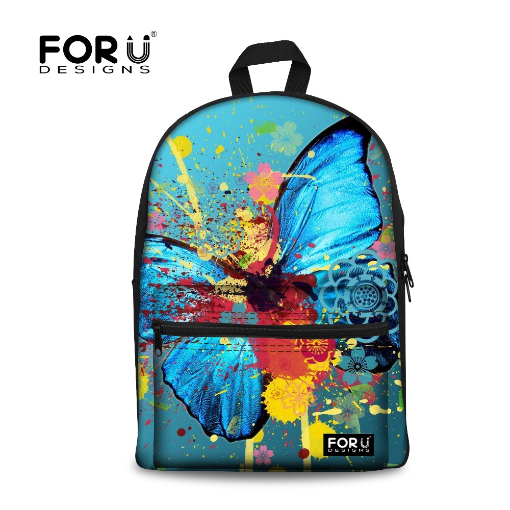 great fit good looking new authentic US $26.65 38% OFF New Women Girls Ladies Butterfly Backpack Animal Printing  Children School Bags for Teenagers Rucksack Student Bagpack Mochila-in ...