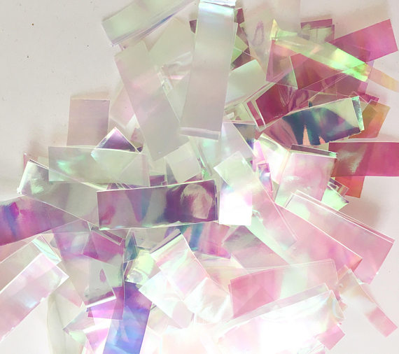 22b3c5bbad687 Unicorn Iridescent Metallic Confetti Toss, Wedding Confetti,Iridescent  Confetti, Custom Confetti,Foil Metallic Confetti-in Party DIY Decorations  from ...