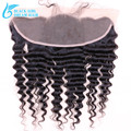 7A  Malaysian Human Hair  Ear to Ear Lace Frontal Deep Wave  ,13*4 Lace Frontal closure With Baby Hair