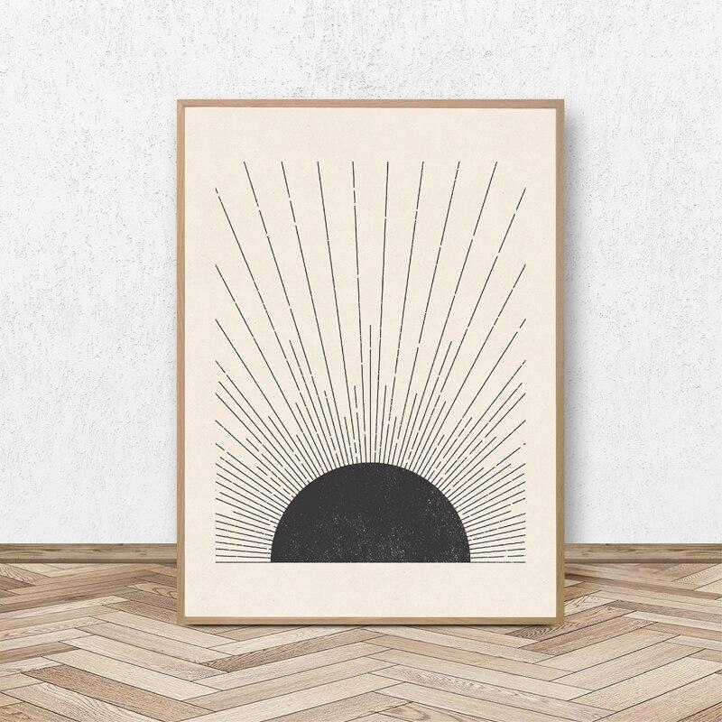 Sun Illustration Prints Home Decor