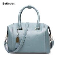 New 2017 Brand Woman Handbag Solid Color PU Leather Women Designer Bags Fashion Popular Bag For
