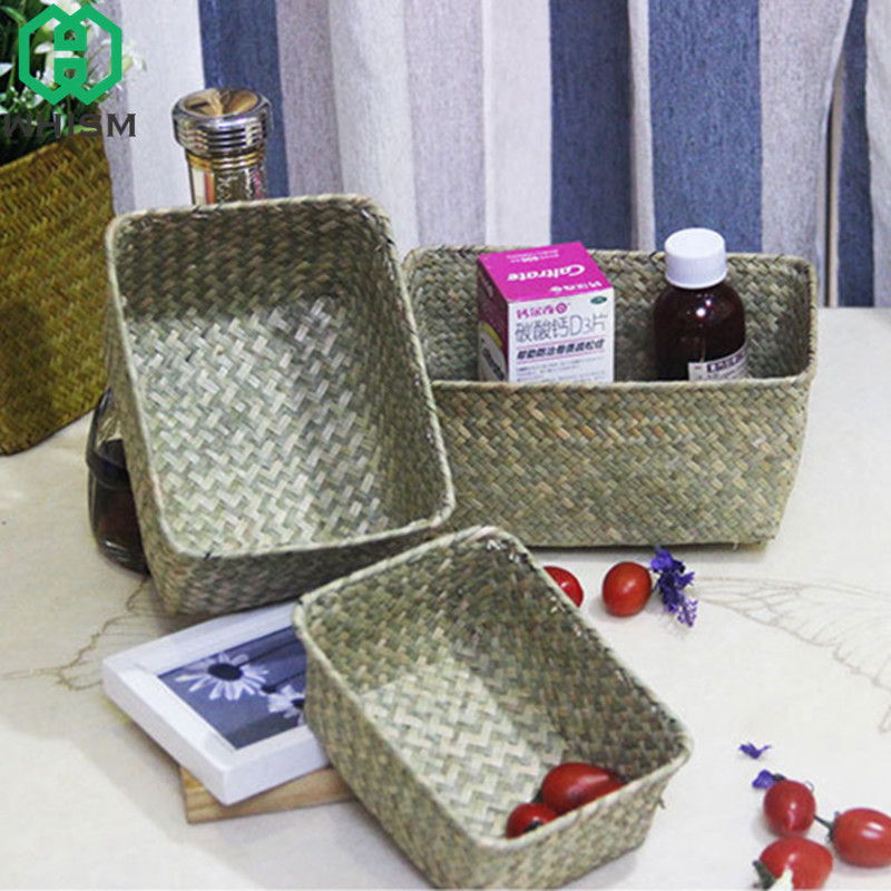 WHISM Handmade Storage Box Home Organizer Jewelry Container Cosmetic Organizer Stationery Basket Desktop Sundries Storage Boxes-in Storage Baskets from Home ... & WHISM Handmade Storage Box Home Organizer Jewelry Container Cosmetic ...