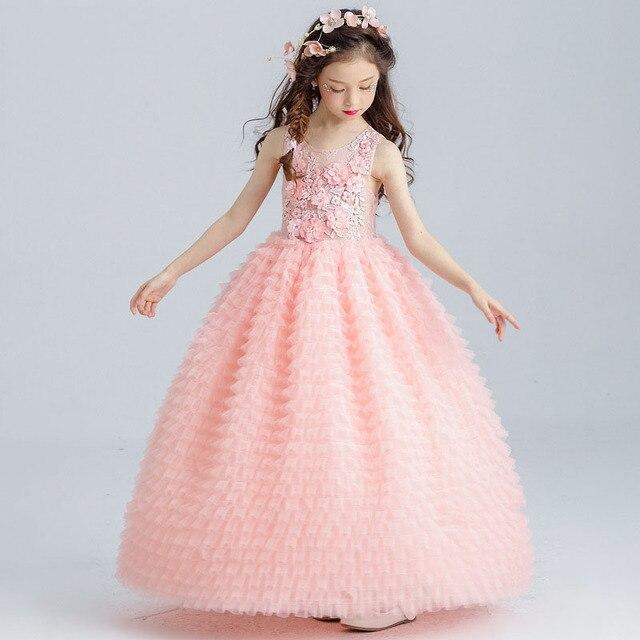 Vestidos de niña para las bodas partido tamaño 4 5 6 7 8 9 10 11 12 ...