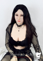 (Hui)Crossdress Soft Silicone Realistic Female Face Full Head DMS Mask Crossdresser DOLL Mask